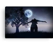 Lonely Night Landscape Canvas Print
