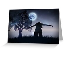 Lonely Night Landscape Greeting Card