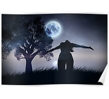Lonely Night Landscape Poster