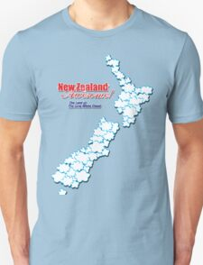 The Land of The Long White Cloud, New Zealand Unisex T-Shirt