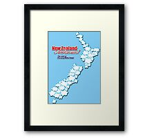 The Land of The Long White Cloud, New Zealand Framed Print