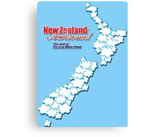 The Land of The Long White Cloud, New Zealand Canvas Print