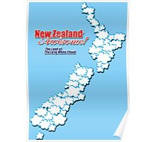The Land of The Long White Cloud, New Zealand Poster