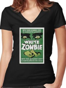 White zombie - the movie Women's Fitted V-Neck T-Shirt