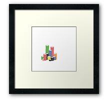 poker chips Framed Print