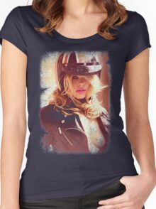 VINTAGE POSTER : SEXY RIDER Women's Fitted Scoop T-Shirt