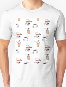 For Coffee Lovers Pattern Unisex T-Shirt