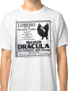 Newspaper advertising - Dracula Classic T-Shirt
