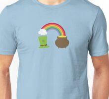 rainbow gold and leprechaun Unisex T-Shirt
