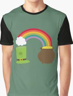 rainbow gold and leprechaun Graphic T-Shirt