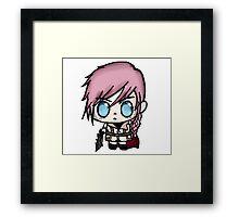 Chibi Lightning Final Fantasy 13 Framed Print