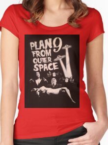 Plan 9 from outer space - the movie Women's Fitted Scoop T-Shirt