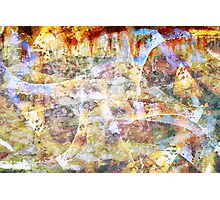 Colourful grunge graffiti  Photographic Print