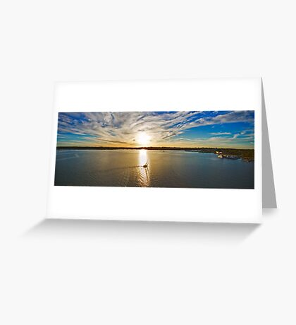 Georges River Sunset Sails - Sydney - Australia Greeting Card