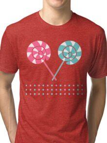Sweet candy, lollipops pattern Tri-blend T-Shirt