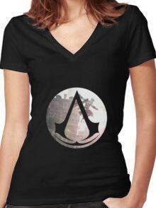 ASSASIN Women's Fitted V-Neck T-Shirt