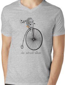 old school biker Mens V-Neck T-Shirt