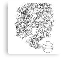 Doodlemon Canvas Print