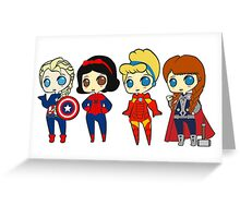SUPERHERO PRINCESSES Greeting Card