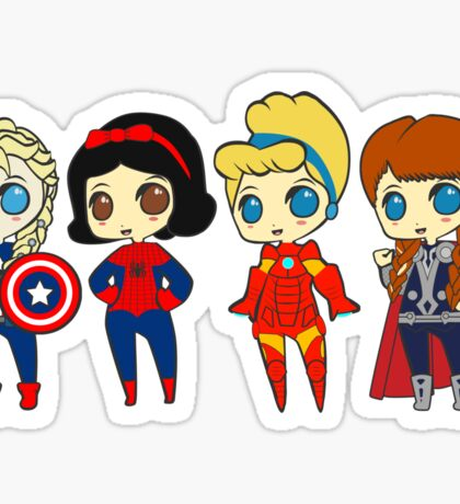 SUPERHERO PRINCESSES Sticker