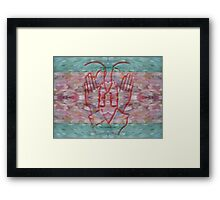 THE POWER OF TOUCH Framed Print