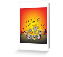 mariachi hedgehogs Greeting Card