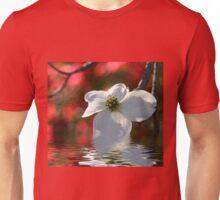 Dogwood Blossom With Azalea Background Unisex T-Shirt