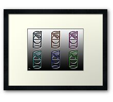 STRAW AND GLASS Framed Print