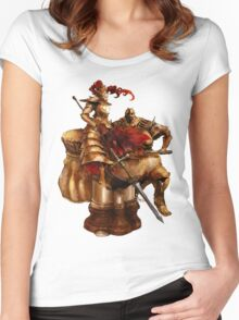 Ornstein & Smough Women's Fitted Scoop T-Shirt