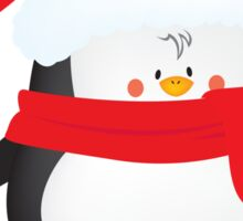 cute little xmas penguin Sticker