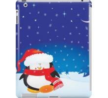 cute little xmas penguin iPad Case/Skin