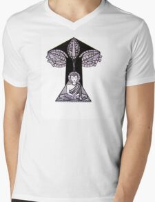 Buddha Under the Bodhi Tree Mens V-Neck T-Shirt