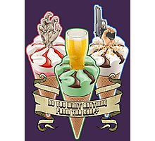 Three Flavours Cornetto Trilogy with banner Photographic Print