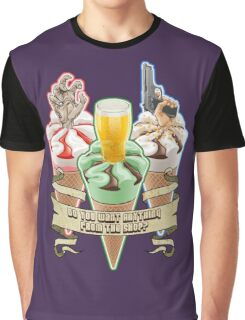 Three Flavours Cornetto Trilogy with banner Graphic T-Shirt