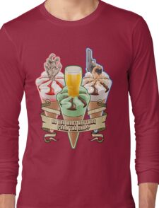 Three Flavours Cornetto Trilogy with banner Long Sleeve T-Shirt