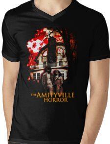 Amityville Horror Movie T-Shirt Mens V-Neck T-Shirt