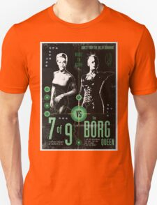 Star Trek's Seven of Nine vs The Borg Queen 'vintage' Fight poster T-Shirt