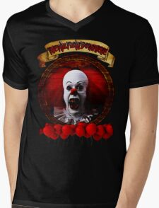 Tim Curry Pennywise Stephen King T-Shirt Mens V-Neck T-Shirt