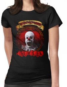 Tim Curry Pennywise Stephen King T-Shirt Womens Fitted T-Shirt