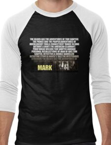 Mark Twain Novels T-Shirt Men's Baseball ¾ T-Shirt