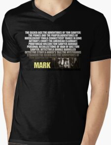 Mark Twain Novels T-Shirt Mens V-Neck T-Shirt