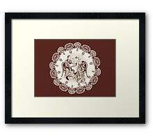 coffee and love Framed Print
