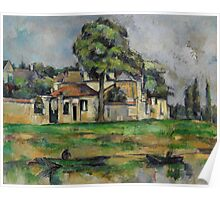 Paul Cezanne - Banks of the Marne  1888 Impressionism  Landscape Poster