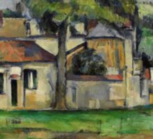 Paul Cezanne - Banks of the Marne  1888 Impressionism  Landscape Sticker