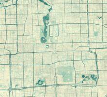Beijing Map Blue Vintage Sticker