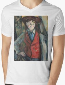 Paul Cezanne - Boy in a Red Waistcoat 1888 - 1890 Mens V-Neck T-Shirt