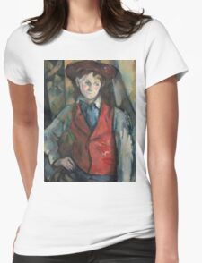 Paul Cezanne - Boy in a Red Waistcoat 1888 - 1890 Womens Fitted T-Shirt