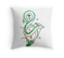 Haku Dragon Throw Pillow