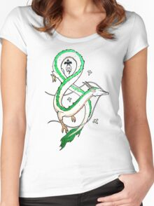 Haku Dragon Women's Fitted Scoop T-Shirt