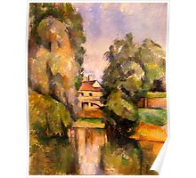 Paul Cezanne - Country House by a River  1890 Poster
